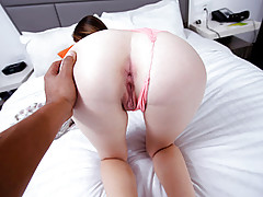 Naughty babe gets her ass banged on her porn debut